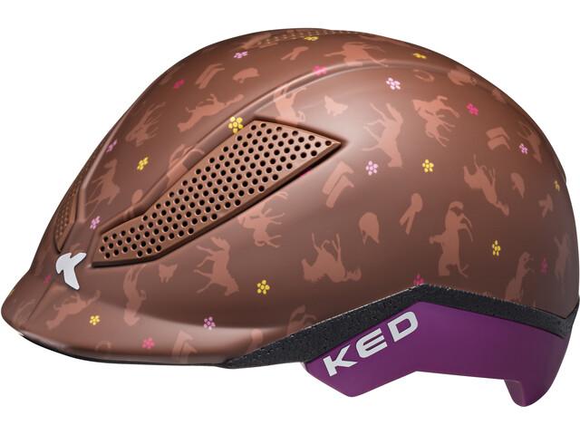 KED Pina Lapset Pyöräilykypärä , ruskea
